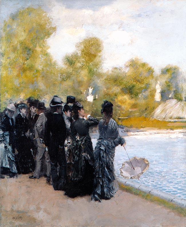 Giuseppe De Nittis, Accanto al laghetto dei giardini del Lussemburgo, 1875