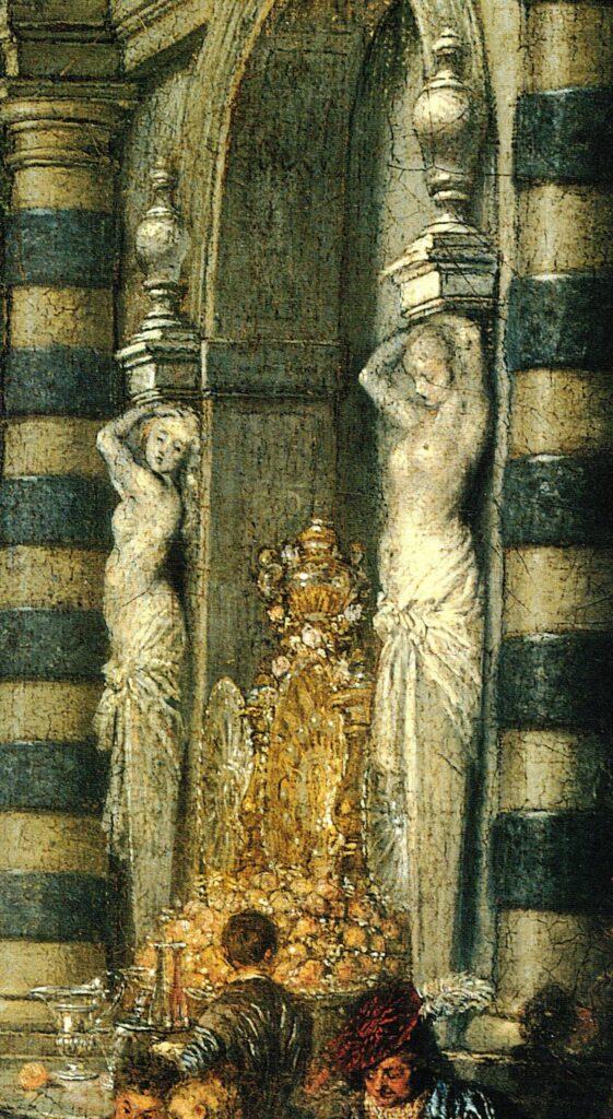 Fig. 2, Watteau, I piaceri del ballo, (particolare) 1716-1719