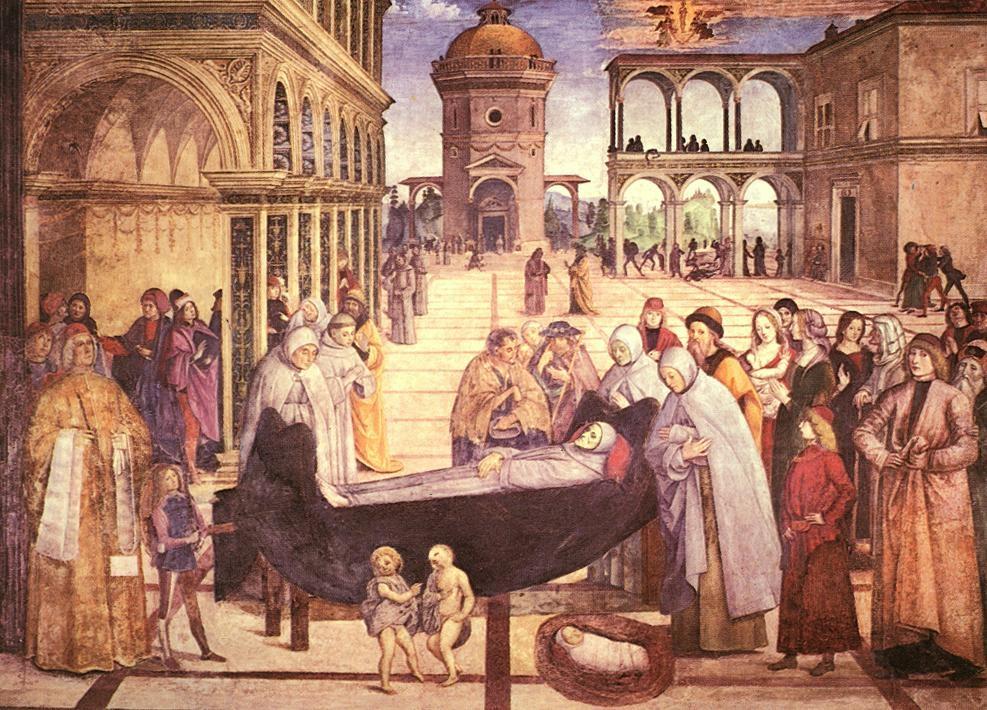 Fig. 3 Pinturicchio, Funerale di S. Bernardino, 1484-86 ca.
