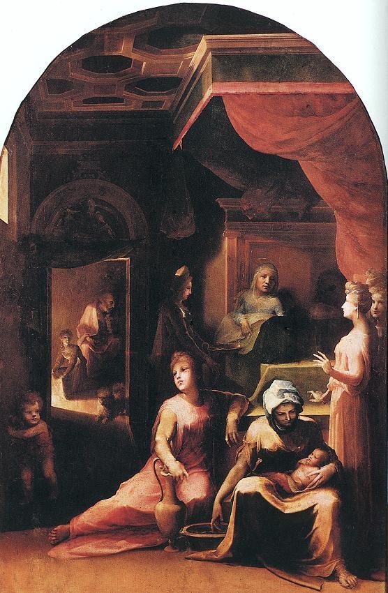 Fig. 8 Beccafumi, Nascita Vergine, 1540.43