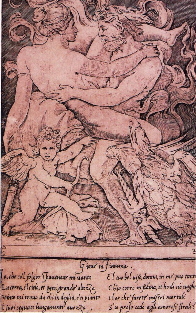 Gian Giacomo Caraglio, Giove e Semele