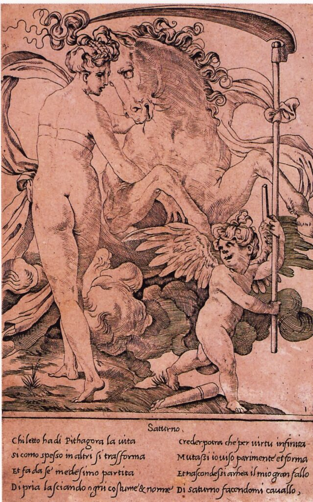 Gian Giacomo Caraglio, Saturno e Filira