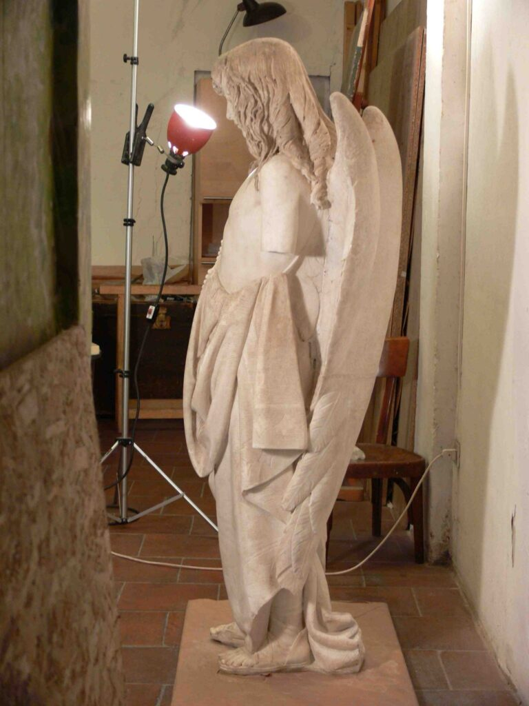 C. MONARI, Genio funebre del Monumento Rossi-Muratori, Marmo, cm 157 x 50 x 70, Bologna, Cimitero della Certosa