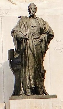 DAVIDE CALANDRA (1856-1915), Monumento a Giuseppe Zanardelli, (part.), 1906-1909, bronzo, Brescia, già angolo via delle Rose – piazza Repubblica, ora giardini Zanardelli