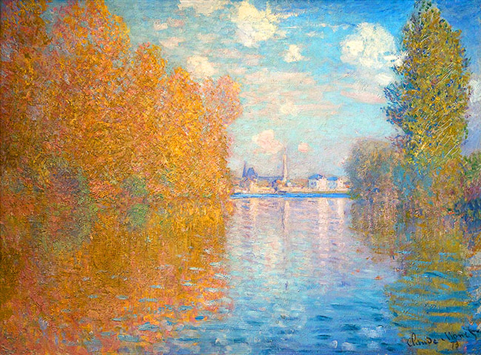 Buon Giorno Dautunno Con Claude Monet Stile Arte