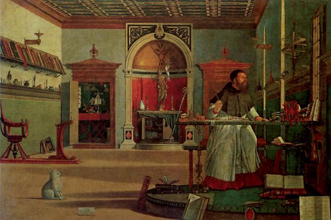 Vittore Carpaccio, Visione di Sant'Agostino