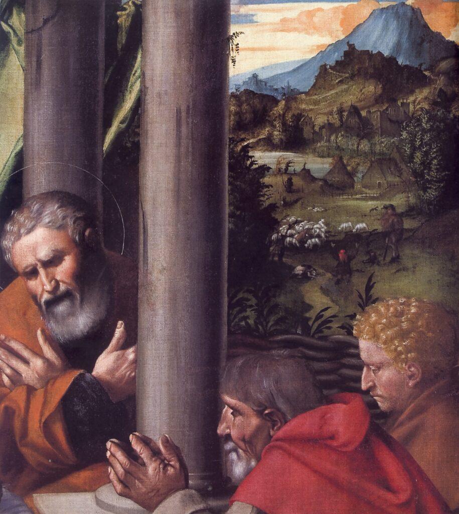 Monogrammista Fv, Francesco Gualtieri,  Adorazione dei pastori, particolare