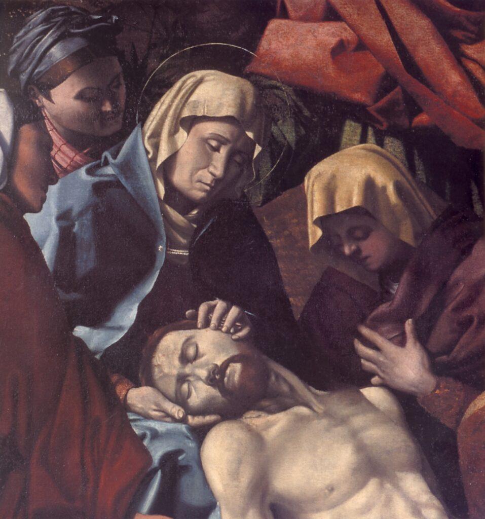 Monogrammista F V. Francesco Gualtieri, Compiantosul Cristo morto, particolare