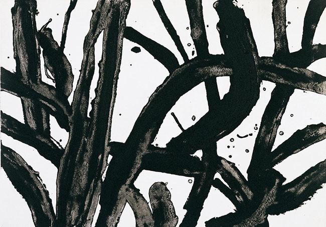 Giovanni Frangi: sunflowers, 5oox700 mm, 2008