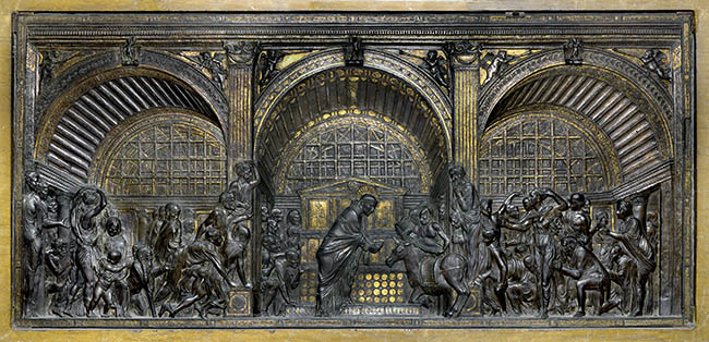 Donatello, Il miracolo della mula. Il giovane Mantegna osservò con grande interesse l'opera del maestro toscano