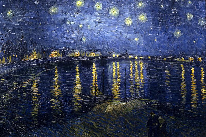 Vincent Van Gogh, Notte sul Rodano, 1888, olio su tela, cm 72,5x92, Parigi, Museo d'Orsay