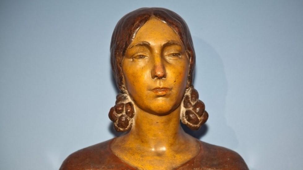 Timo Bortolotti, Giuseppina, 1938, scultura policroma