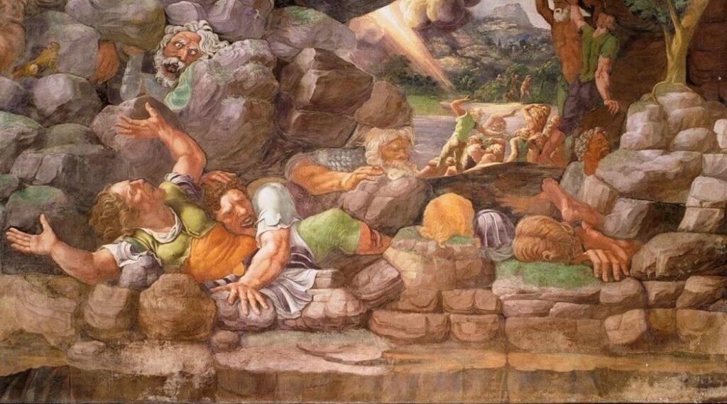 urlo nell'arte giulio romano sala giganti