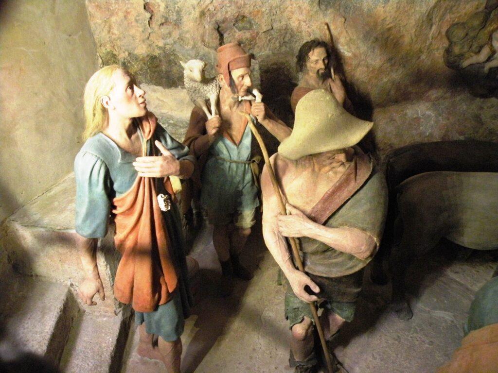 Autori anonimi, L'adorazione dei pastori, post 1514, Varallo (Vc), Sacro Monte, cappella VII