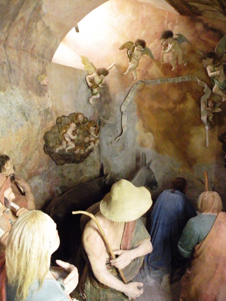 Autori anonimi, L'adorazione dei pastori, (particolare), post 1514, Varallo (Vc), Sacro Monte, cappella VII