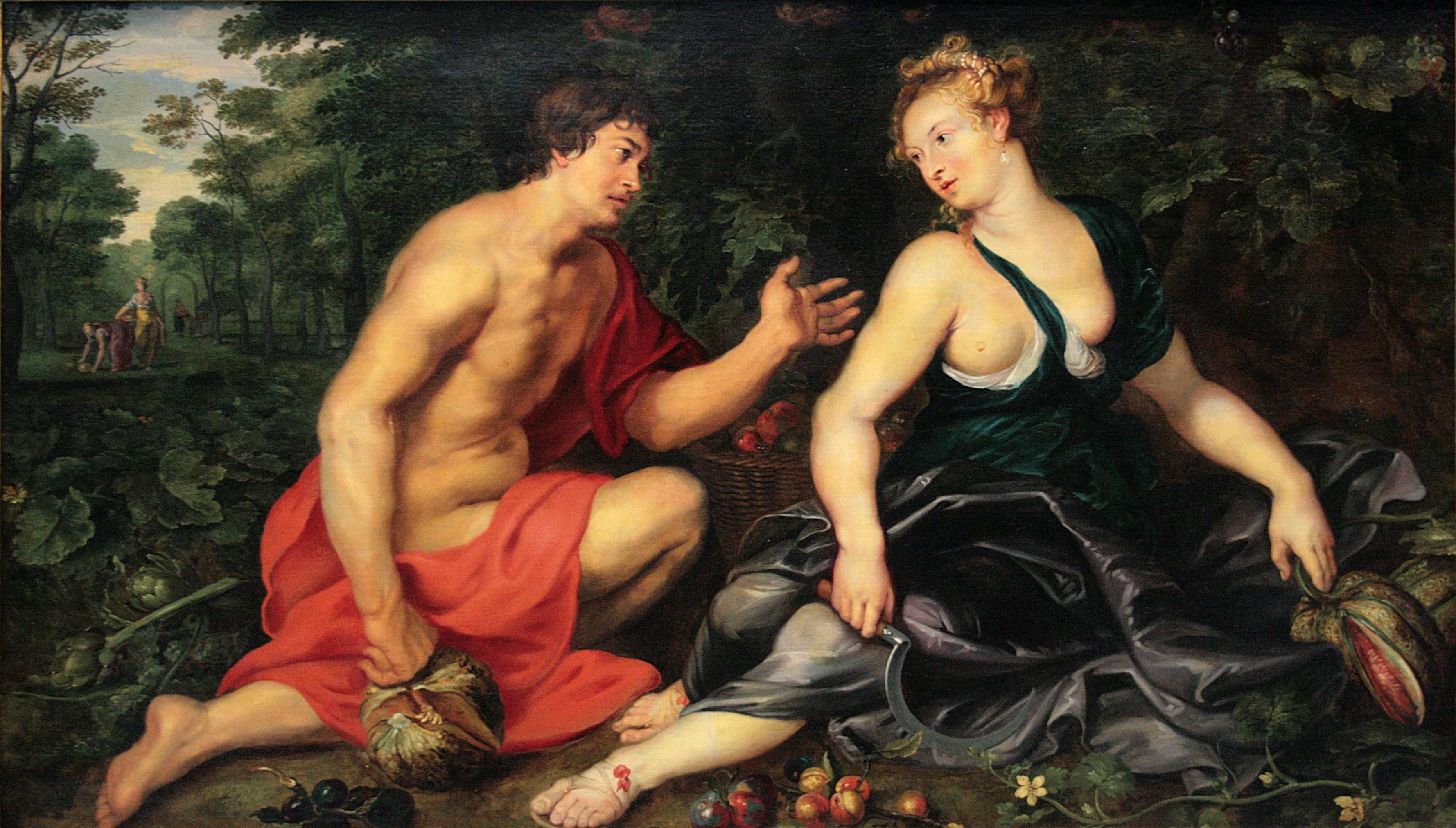Peter Paul Rubens, Vertumno e Pomona, 1617