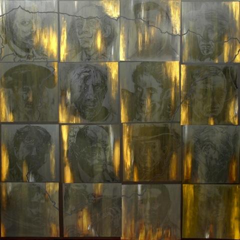 Roberto Bergonzo, Oro di Spagna, acrilico e oro su tela cm.190x190