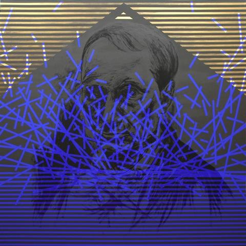 Roberto Bergonzo, Sinestesi baudelairiana, acrilico su tela, cm.190x190