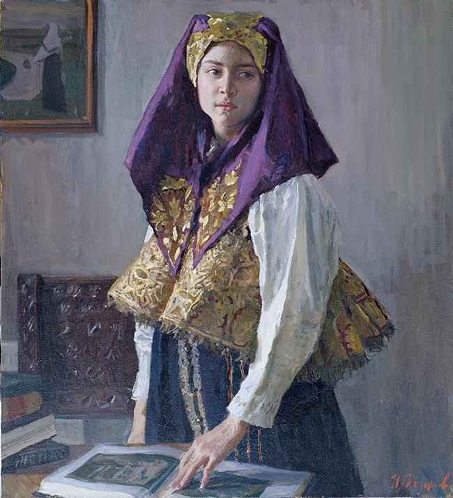 Ivan Glazunov: Con un abito di Nižnij Novgorod, 100x90,2006