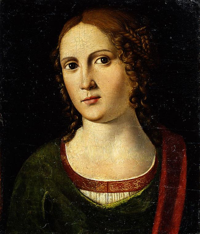 Girolamo Mocetto: Ritratto femminile, 1517 ca.; olio su tavola; Verona, Museo di Castelvecchio