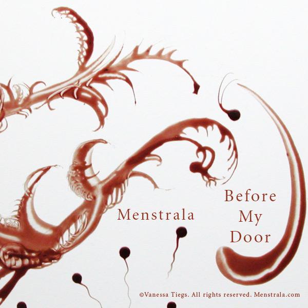 Uno dei quadri di Pete Doherty dipinti col sangue