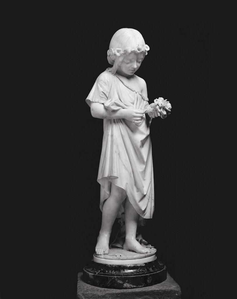 G.B.LOMBARDI, Ritratto di Teresa Barboglio, 1858-1860 ca.,marmo di Carrara, h. cm. 103 x 28,5 x 28,5, collezione privata
