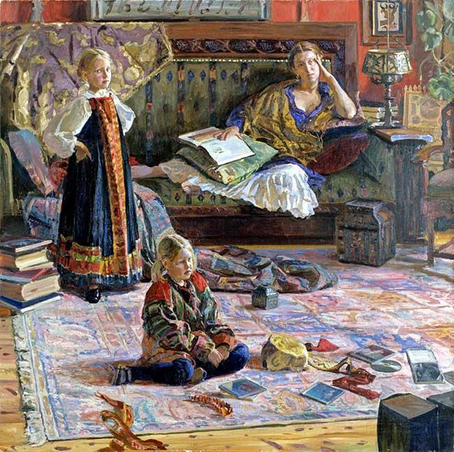 Ivan Glazunov: Ritratto di famiglia, 200x200, 2003