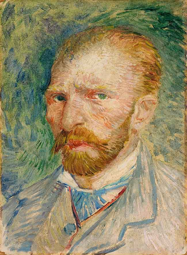 Vincent van Gogh Autoritratto Olio su cartone, cm 32,8 x 24 1887 Kröller-Müller Museum, Otterlo © Kröller-Müller Museum; Otterlo