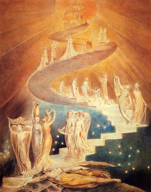 W. BLAKE, La scala di Giobbe, 1800