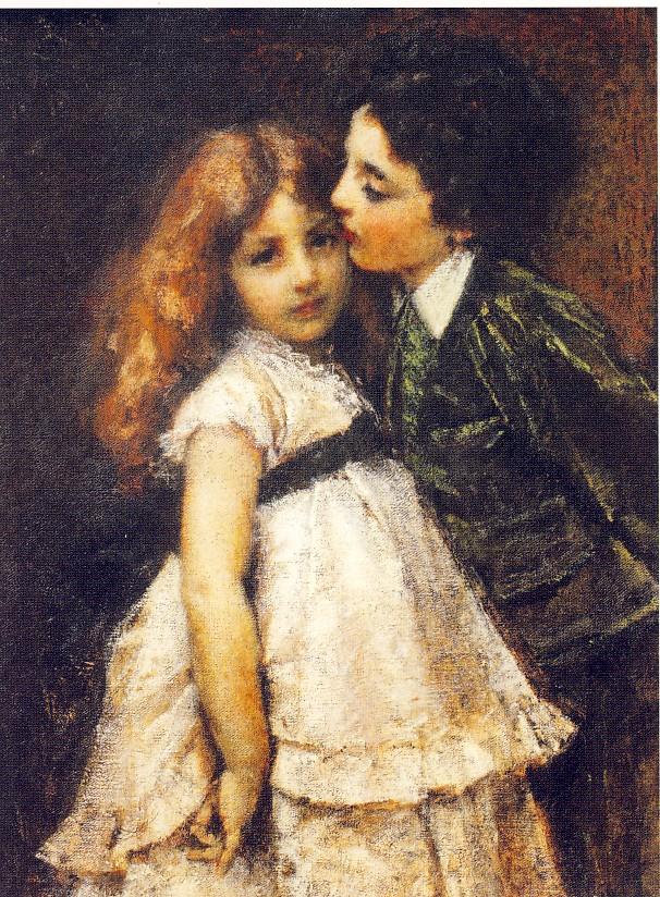T.CREMONA, Schizzo dal vero (meglio noto come I due cugini), 1870 ca., olio su tela, cm 85 x 64, Roma. Galleria Nazionale di Arte Moderna e Contemporanea