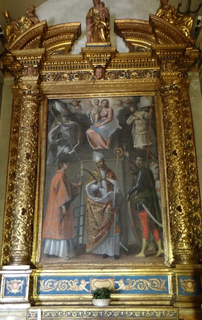 Antonio Gandino, Madonna con santi, olio su tela 1623, Santuario della Stella