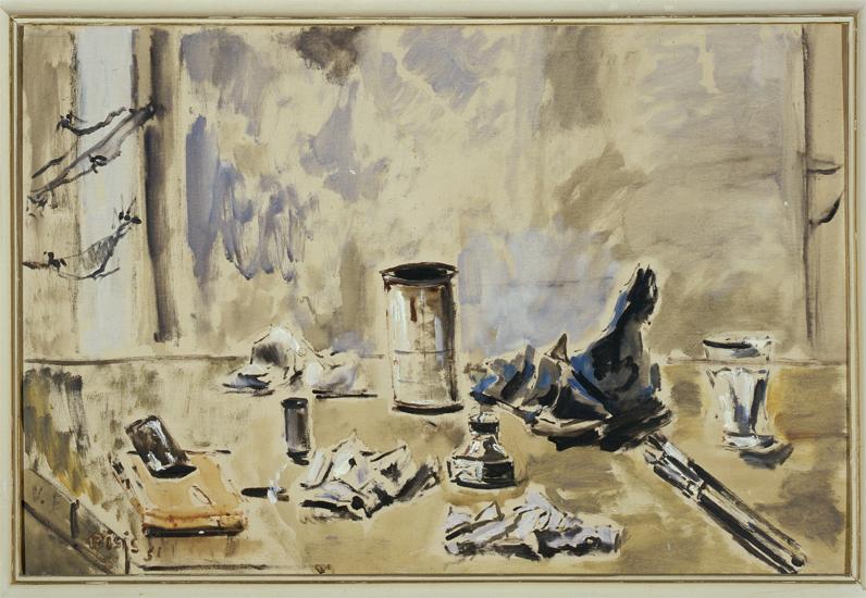 Filippo De Pisis  (Ferrara 1896-Milano 1956) Natura morta con ragnatele 1951 olio su tela Firenze, Galleria d'arte moderna di Palazzo Pitti