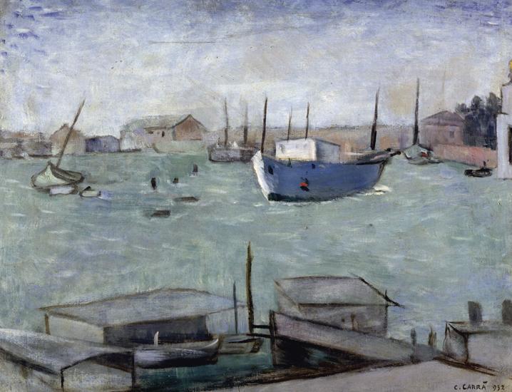 Carlo Carrà (Quargento 1881-Milano 1966) Laguna 1932 olio su tela Firenze, Galleria d'arte moderna di Palazzo Pitti