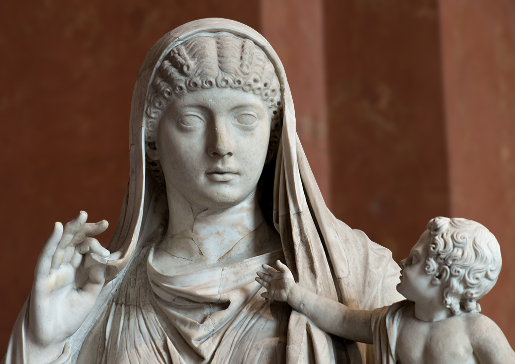 Messalina e il figlio Britannicio