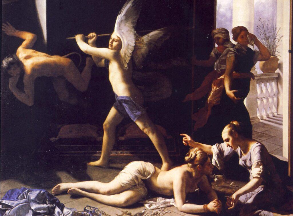 G.CAGNACCI, La conversione della Maddalena, 1650-1658, olio su tela, Pasadena, Museum of Art - Norton Simon Foundatio