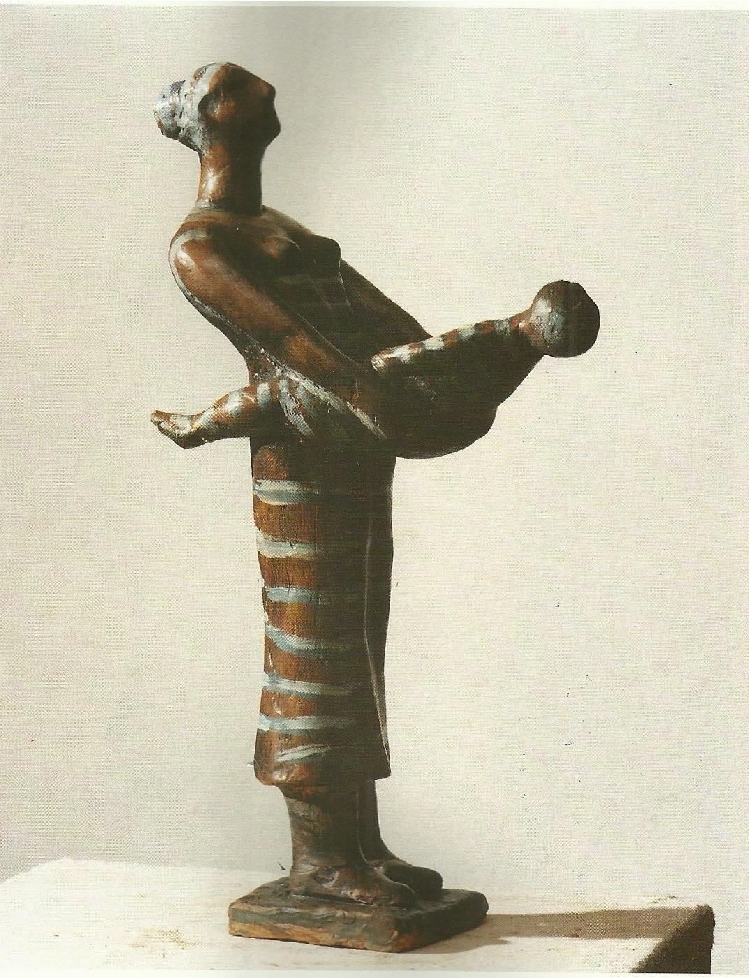 Madre e figlia (terracotta colorata) (1)