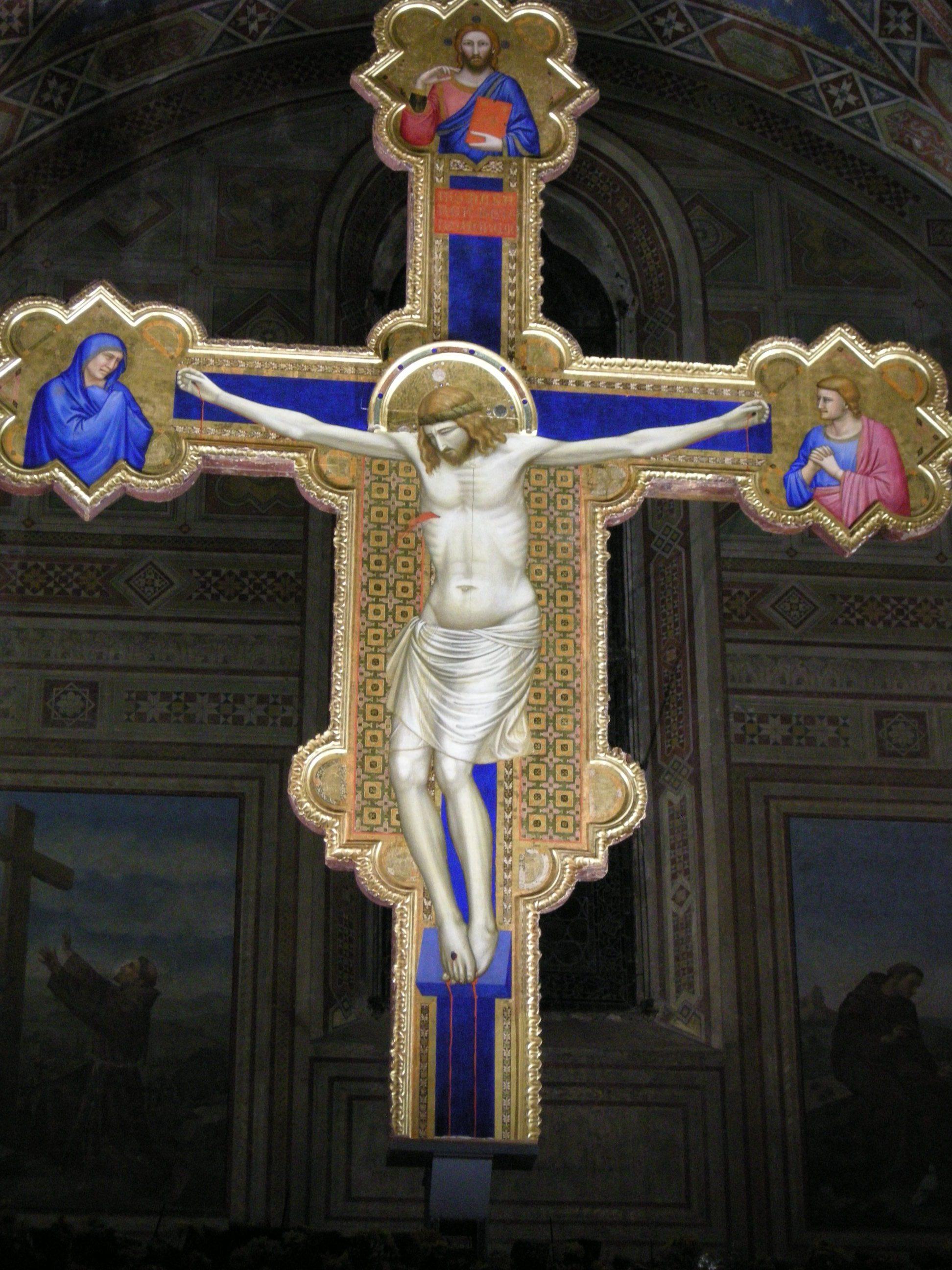 GIOTTO, Crocifisso di Ognissanti, 1315 ca., tempera e oro su tavola, cm 468 x 375, Firenze, Chiesa di Ognissanti