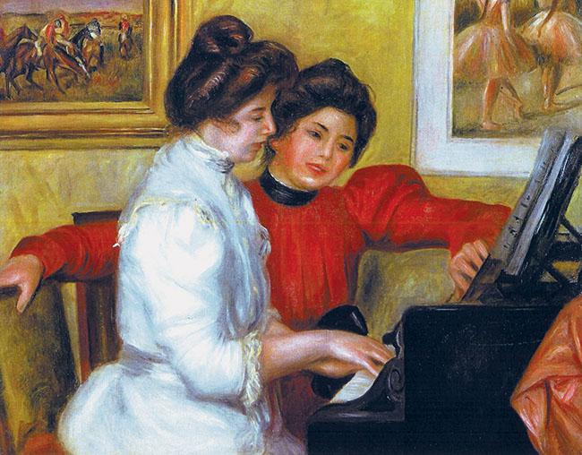 """Renoir, """"Yvonne e Christine Lerolle al piano"""""""