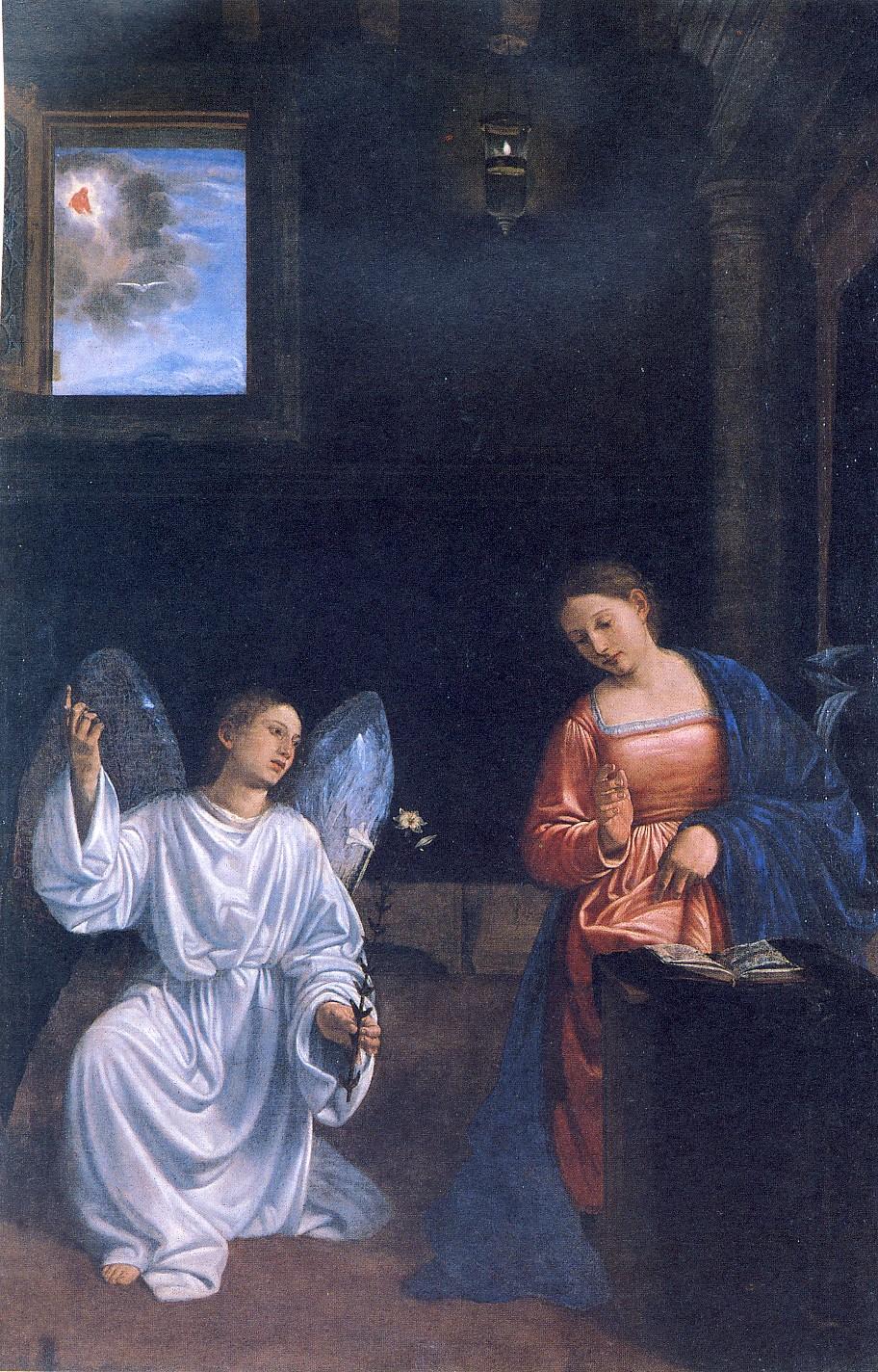 G.SAVOLDO. L'Annunciazione, 1535-1540 ca., olio su tela, cm 173,5 x 114, Pordenone, Museo Civico (in deposito dalla Soprintendenza)