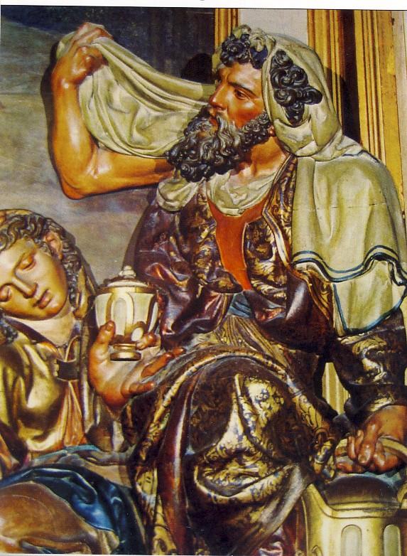 J.DE. JUNI', Pietà, particolare, XVI sec., Cattedrale di Segovia