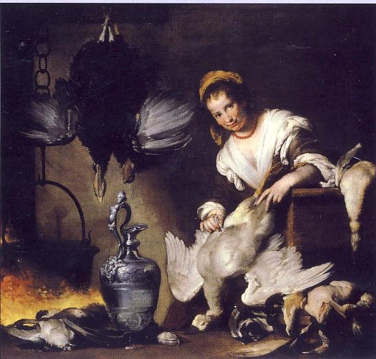 B.STROZZI, La cuoca, 1625, olio su tela, cm 176 x 185, Genova, Musei di Strada Nuova - Palazzo Rosso