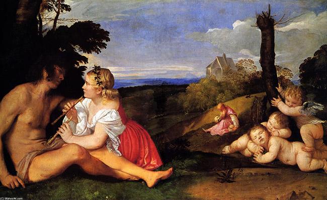 """""""Le tre età dell uomo"""" Tiziano Vecellio - olio su tela - 1512"""