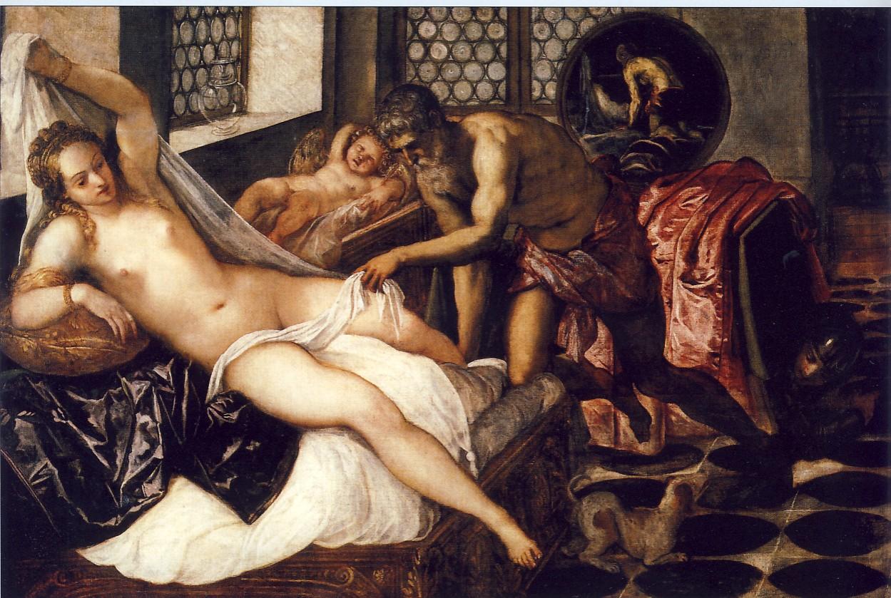 JACOPO ROBUSTI detto il TINTORETTO, Venere, Vulcano e Marte, 1551-1552, olio su tela, cm. 134 x 198, Monaco, Alte Pinakothek