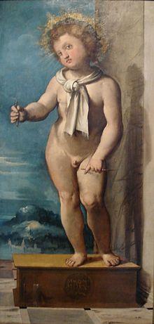 Altobelllo Melone, Beato Simonino, 1521, olio su tavola, Trento Castello del Buonconsiglio