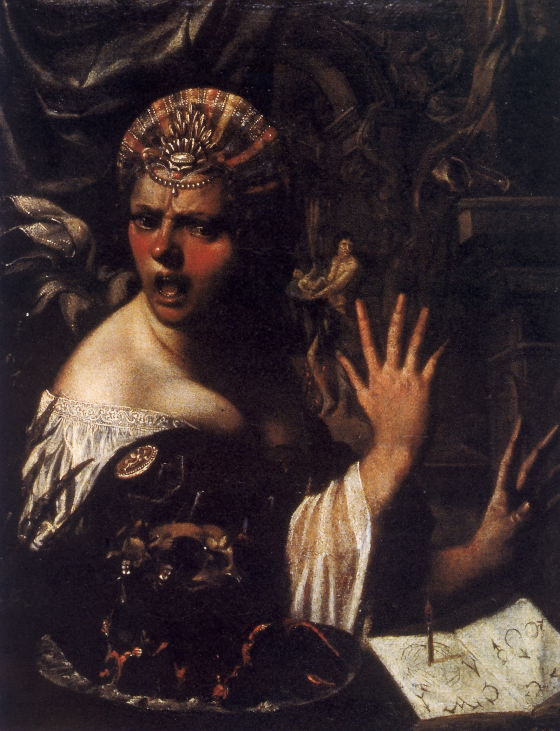 Angelo Caroselli, La negromante, XVII secolo - Ancona, Pinacoteca Civica