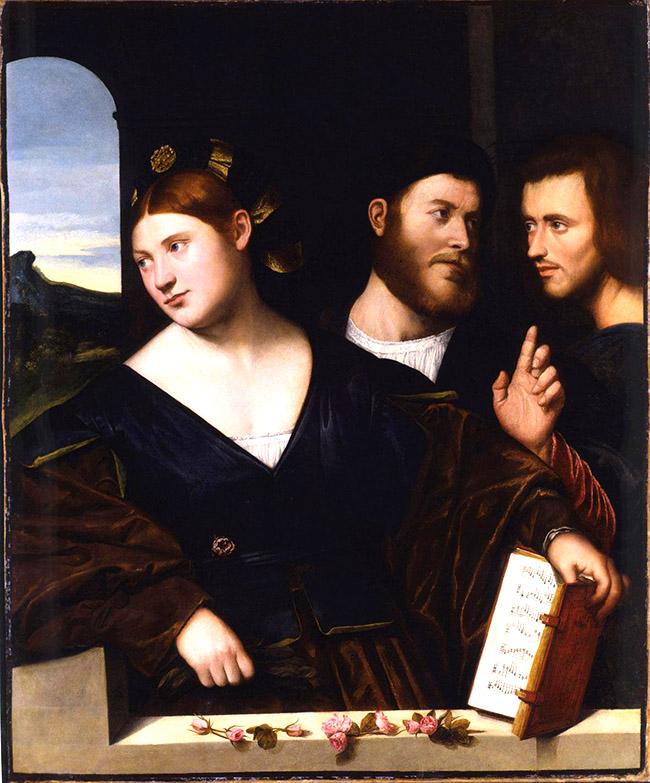 Bernardino Licinio: Allegoria dell'amore, 1520 ca.; olio su tela; London-Milano, Robilant+Voena