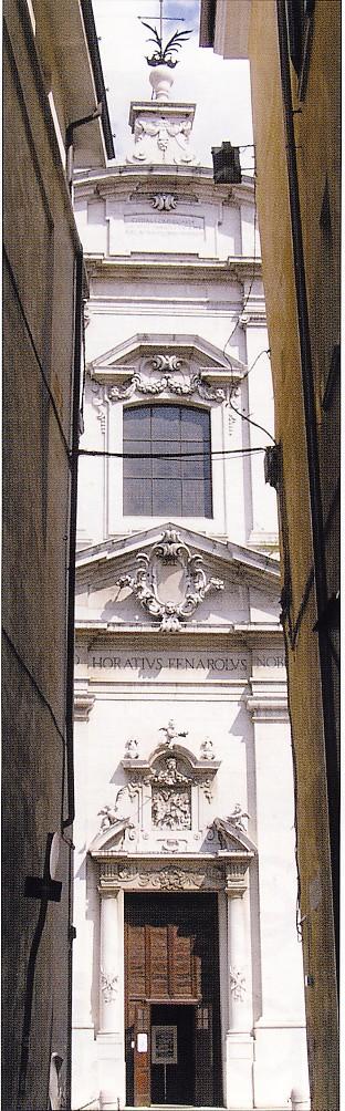 Brescia, facciata Chiesa San Faustino e Giovita, sec. XVIII, particolare