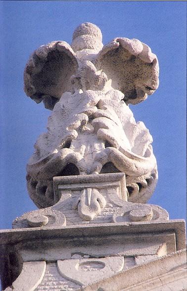 Brescia, facciata della Chiesa San Faustino e Giovita, sec. XVIII, particolare
