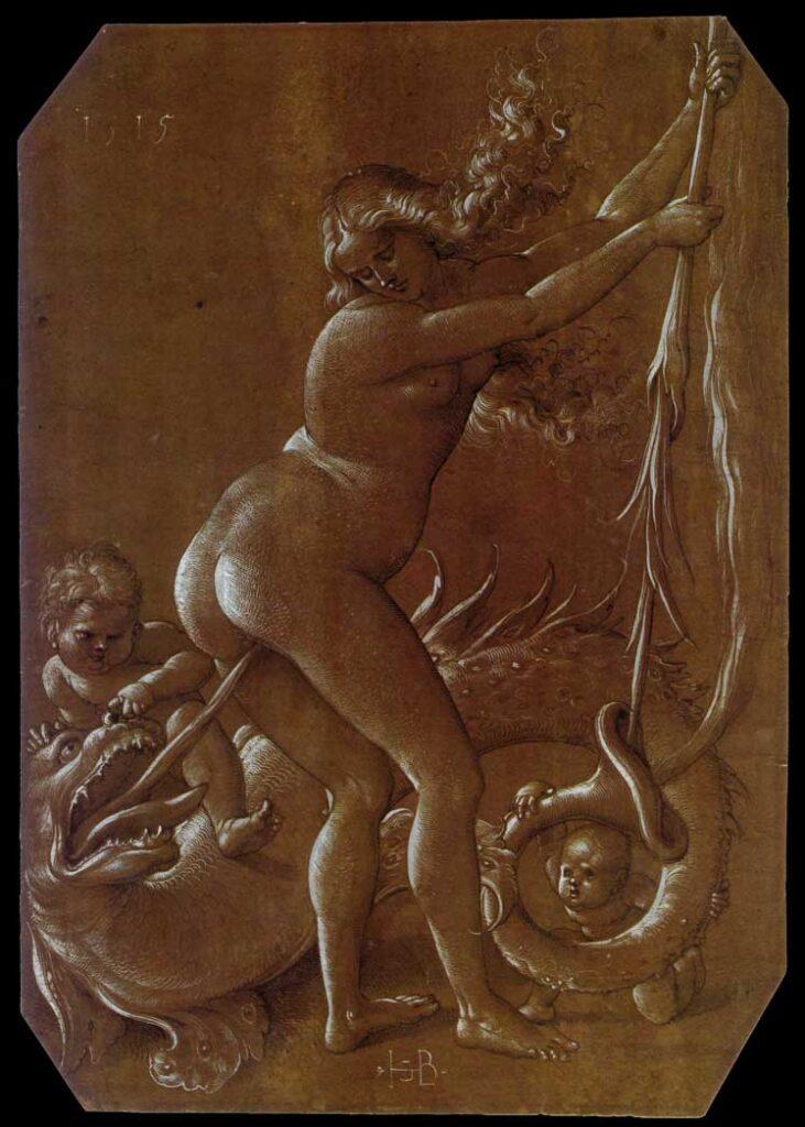 Baldung Grien, Strega e drago, 1515