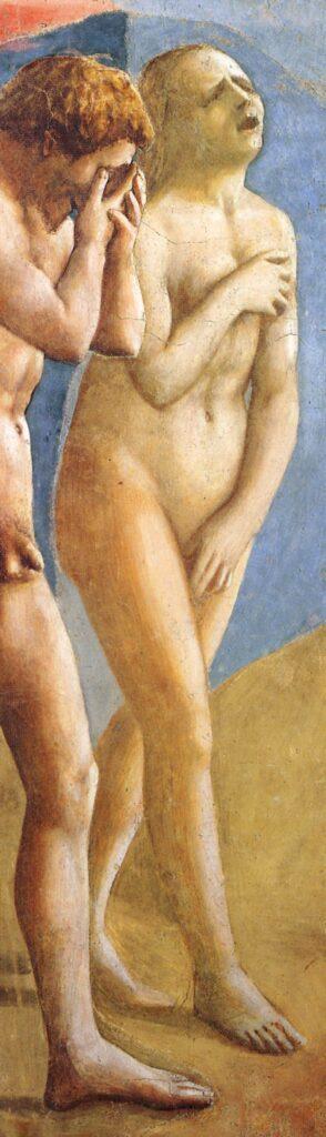 Masaccio, La cacciata dal Paradiso terrestre, particolare